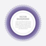 Fundo abstrato com pontos e espaço violetas da cópia Imagens de Stock Royalty Free