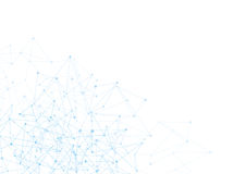 Fundo abstrato com pontos e rede azuis  Imagens de Stock