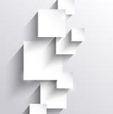 Fundo abstrato com quadrados de papel Foto de Stock Royalty Free