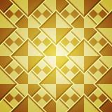 Fundo abstrato com quadrados dourados Fotos de Stock Royalty Free