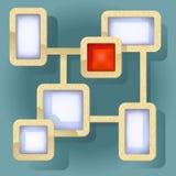 Fundo abstrato com quadros para o texto Imagem de Stock
