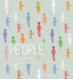 Fundo abstrato com rede do social dos povos Foto de Stock Royalty Free
