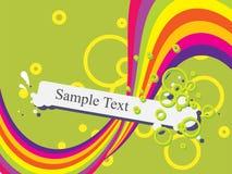 Fundo abstrato com redemoinhos coloridos Fotos de Stock