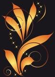 Fundo abstrato com rolos e folhas Ilustração Royalty Free