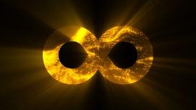 Fundo abstrato com sinal futurista da infinidade Fundo abstrato colorido filme