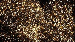 Fundo abstrato com sparkles de brilho do bokeh Brilho das partículas do ouro vídeos de arquivo