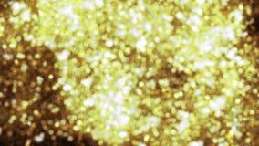 Fundo abstrato com sparkles de brilho do bokeh Brilho das partículas do ouro filme