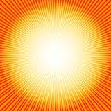 Fundo abstrato com sunburst (vetor) ilustração stock