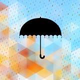 Fundo abstrato com teste padrão da chuva Eps 10 Fotos de Stock