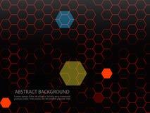 Fundo abstrato com teste padrão geométrico Ilustração do vetor EPS10 Imagens de Stock Royalty Free