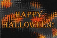 Fundo abstrato com texto 'Dia das Bruxas feliz! ' imagens de stock
