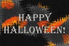 Fundo abstrato com texto 'Dia das Bruxas feliz! ' imagens de stock royalty free