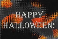 Fundo abstrato com texto 'Dia das Bruxas feliz! ' imagem de stock