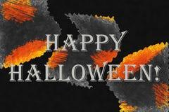 Fundo abstrato com texto 'Dia das Bruxas feliz! ' fotografia de stock