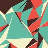 Fundo abstrato com triângulos coloridos para compartimentos, brochuras ou a tela móvel do fechamento Ilustração Royalty Free
