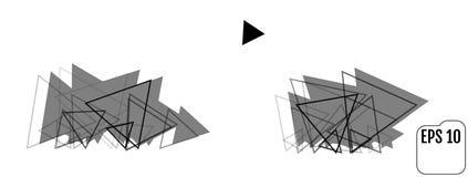 Fundo abstrato com triângulos do moderno ilustração stock