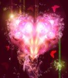 Fundo abstrato com um coração ilustração royalty free