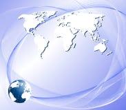 Fundo abstrato com um globo Fotos de Stock Royalty Free