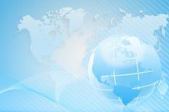 Fundo abstrato com um mapa do mundo Fotos de Stock Royalty Free