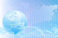 Fundo abstrato com um mapa do mundo Imagens de Stock Royalty Free