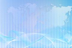 Fundo abstrato com um mapa do mundo Imagem de Stock