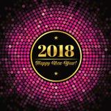 Fundo abstrato com uma inscrição e felicitações em 2018 anos novo Fotos de Stock