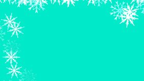 Fundo abstrato com uma variedade de flocos de neve coloridos Grande e pequeno fotografia de stock royalty free