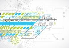 Fundo abstrato com vários elementos tecnologicos