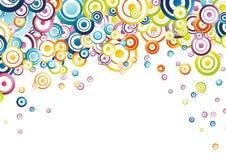 Fundo abstrato completamente de círculos do arco-íris ilustração royalty free