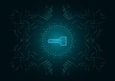 Fundo abstrato; Conceito da segurança do Cyber da tecnologia Imagem de Stock Royalty Free