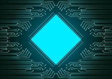 Fundo abstrato; Conceito da segurança do Cyber da tecnologia Imagens de Stock