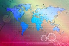 Fundo abstrato, conceito do mundo Foto de Stock Royalty Free