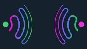 Fundo abstrato conceptual da onda da sonar ilustração royalty free