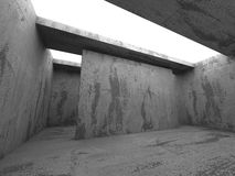 Fundo abstrato concreto da arquitetura Construção urbana Fotos de Stock Royalty Free
