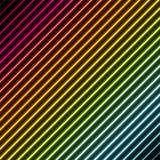 Fundo contemporâneo com cores do néon do arco-íris Imagens de Stock Royalty Free