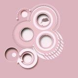 Fundo abstrato cor-de-rosa, botões 2d ilustração do vetor