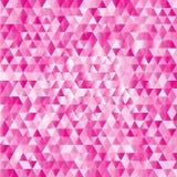 Fundo abstrato cor-de-rosa dos triângulos Imagem de Stock Royalty Free