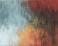 Fundo abstrato, cor vermelha, alaranjada e azul da parede, emplastro foto de stock royalty free