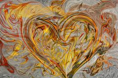 Fundo abstrato, coração no amor Projete o elemento para o folheto, as propagandas, o inseto, a Web e os outros trabalhos do desig Foto de Stock