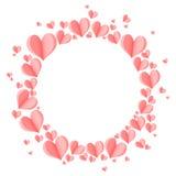 Fundo abstrato criativo à moda com corações 3d cor-de-rosa Imagem de Stock