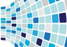 Fundo abstrato - cubos azuis ilustração do vetor