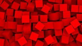Fundo abstrato - cubos no caos Imagens de Stock Royalty Free