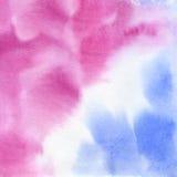 Fundo abstrato da aguarela Serenidade e quartzo cor-de-rosa Foto de Stock