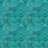 Fundo abstrato da aquarela com círculos de cor de turquesa imagens de stock royalty free