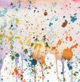 Fundo abstrato da aquarela com manchas ilustração do vetor