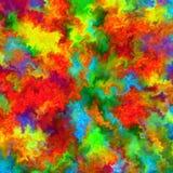 Fundo abstrato da aquarela da arte do respingo da pintura da cor do arco-íris Fotos de Stock Royalty Free
