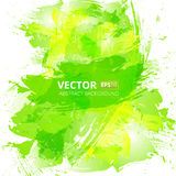 Fundo abstrato da aquarela do verde do vetor Fotografia de Stock