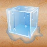 Fundo abstrato da areia com cubo de gelo ilustração do vetor