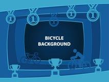 Fundo abstrato da bicicleta com formas do corte do papel Imagens de Stock Royalty Free
