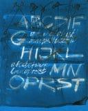 Fundo abstrato da caligrafia Imagem de Stock